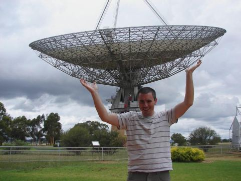The big dish...a rare big thing with a practical use, and setting for a movie. Parkes, NSW