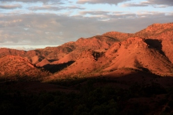 The Flinders Ranges in South Australia are far from the usual mountain scene of snow-capped forested peaks. But they are none the less stunning and evocative of the red heart of Australia