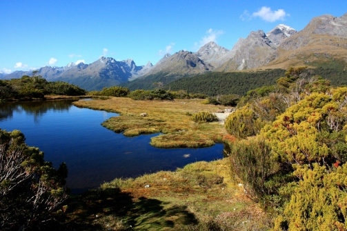Fiordland National Park in New Zealand is truly inspirational, captured on this late afternoon walk on the Routeburn Track.
