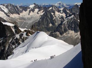 My highest point, at the Aiguille du Midi (3,842m) on the slopes of Mont Blanc, is mercifully accessible by cablecar!